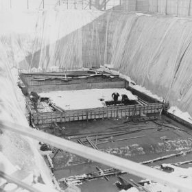 Construction of Aquatic Centre - 1975