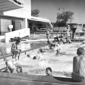 Swimmers at Empire Pool - 1957