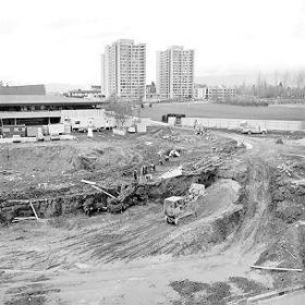 Aquatic Centre Excavation - 1976
