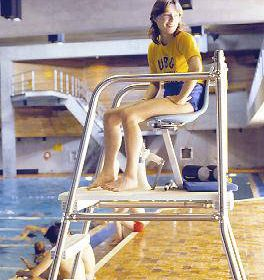Lifeguard at pool - 1979