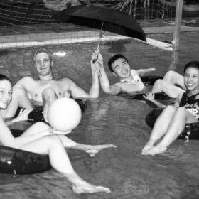 Students in Aquatic Centre Pool - 1999